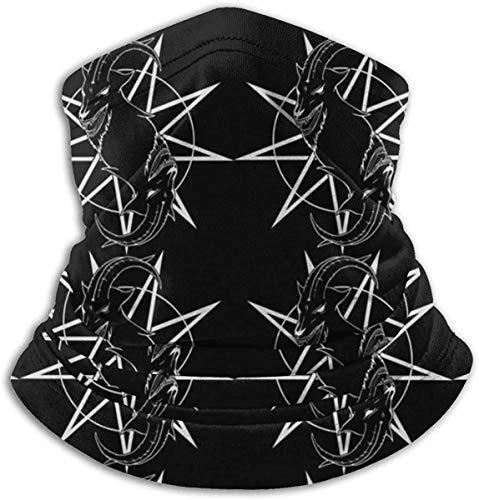 Python Mix Baphomet Ziegenkopf Satanic Black Star Unisex Mikrofaser Halswärmer Kopfbedeckung Gesicht Schal Maske Für Winter Kaltwetter Maske Bandana Sturmhaube