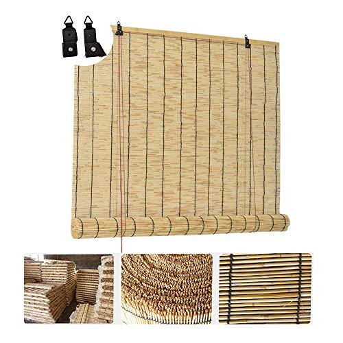 LMZJLU Persiana De Bambú - Persiana Enrollable - Cortina De Láminas, Sombrilla Impermeable Anticorrosivo, Persianas De Bambú Natural, para Exteriores/Interiores