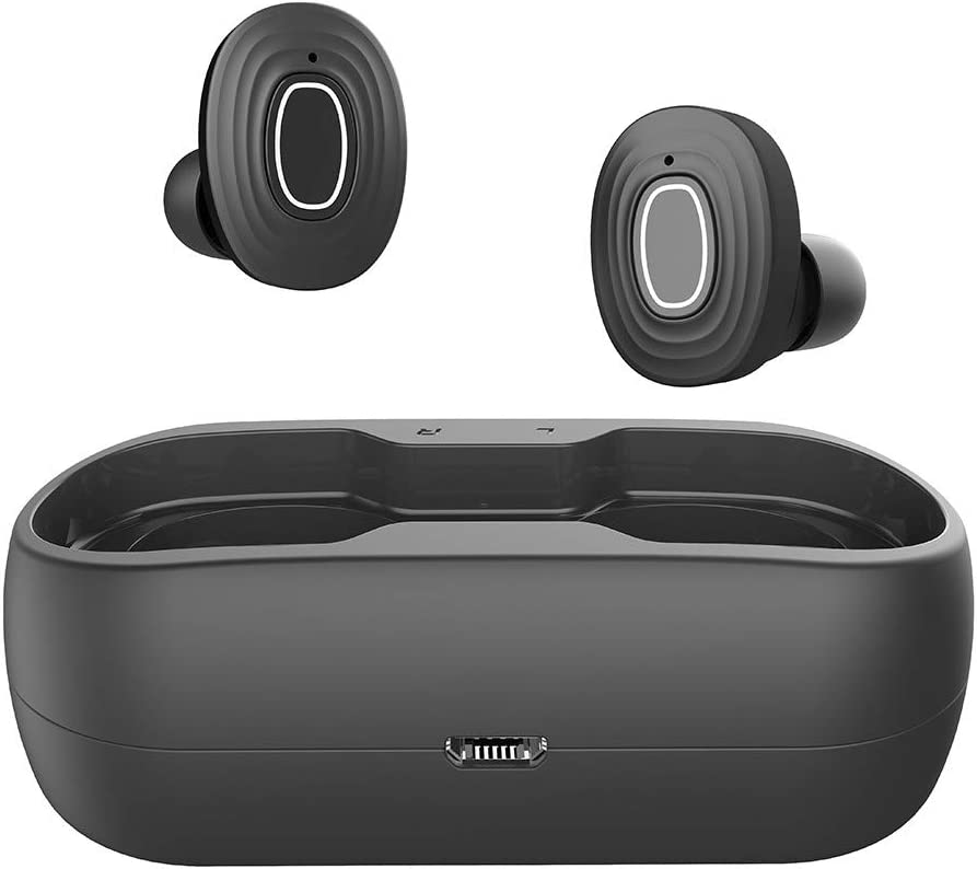 RQWEIN Wireless Earbuds Sports Bluetooth 5.0 Headphones True Wireless Stereo Deep Bass Built in Mic IPX7 Waterproof Earphones in Ear with Charging Case 54 Hours Playtime for Workout Running