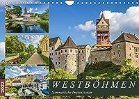 WESTBOeHMEN Sommerliche Impressionen (Wandkalender 2022 DIN A4 quer): Malerische Orte und historische Bauwerke (Monatskalender, 14 Seiten )
