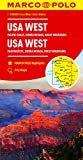 USA West Marco Polo Map: Pacific Coast, Sierra Nevada, Rocky Mountains (Marco Polo Maps)