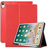 Billionn New iPad Pro 11 inch 2018 Case Pencil Holder [with Free Stylus Pen], Premium PU Leather with Hand Strap, Stand Smart Cover Auto Wake/Sleep for Apple iPad Pro 11' 2018 Release, Black