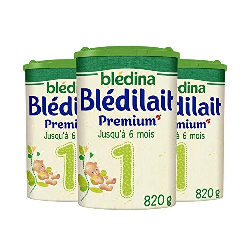 Blédina Blédilait Premium 1, Lait en Poudre pour Bébé, 0 à 6 Mois, Formule Epaissie, 820g (Boîtex3)
