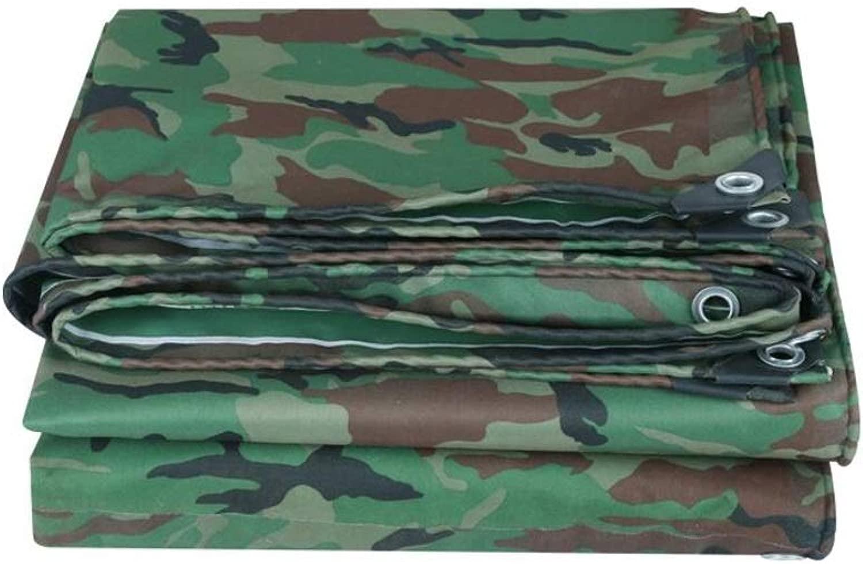 ZX タープ キャンバス防雨布ジャングルカモフラージュナイフスクレイピングクロス防塵日焼け止めレインシールドターポリン テント アウトドア (Color : Multi-colo赤, Size : 6x10m)