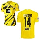 PUMA Borussia Dortmund BVB Heimtrikot 2020 2021 Home Trikot Sponsor BL Logo Kinder Nico Schulz 14 Gr 140
