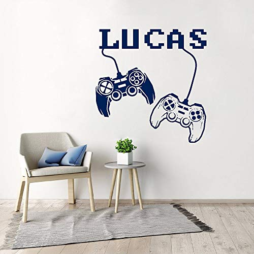Personalized decals joystick decals game player stickers teen boys room decoration game room decals video game decals other color 57x58cm