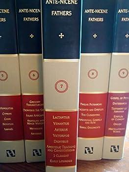 Hardcover Anti-nicene Fathers,volume 7,lactanius,venantius,asterius,victorinus,dionysius,apostolic Teaching and Constitutions,homily,and Liturgies (Volume 7) Book