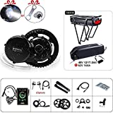 BAFANG BBS02B 48V 750W Ebike Motor with LCD Display 8fun Mid Drive Electric Bike Conversion Kit (500C Display, Motor kit+44T Chainring)
