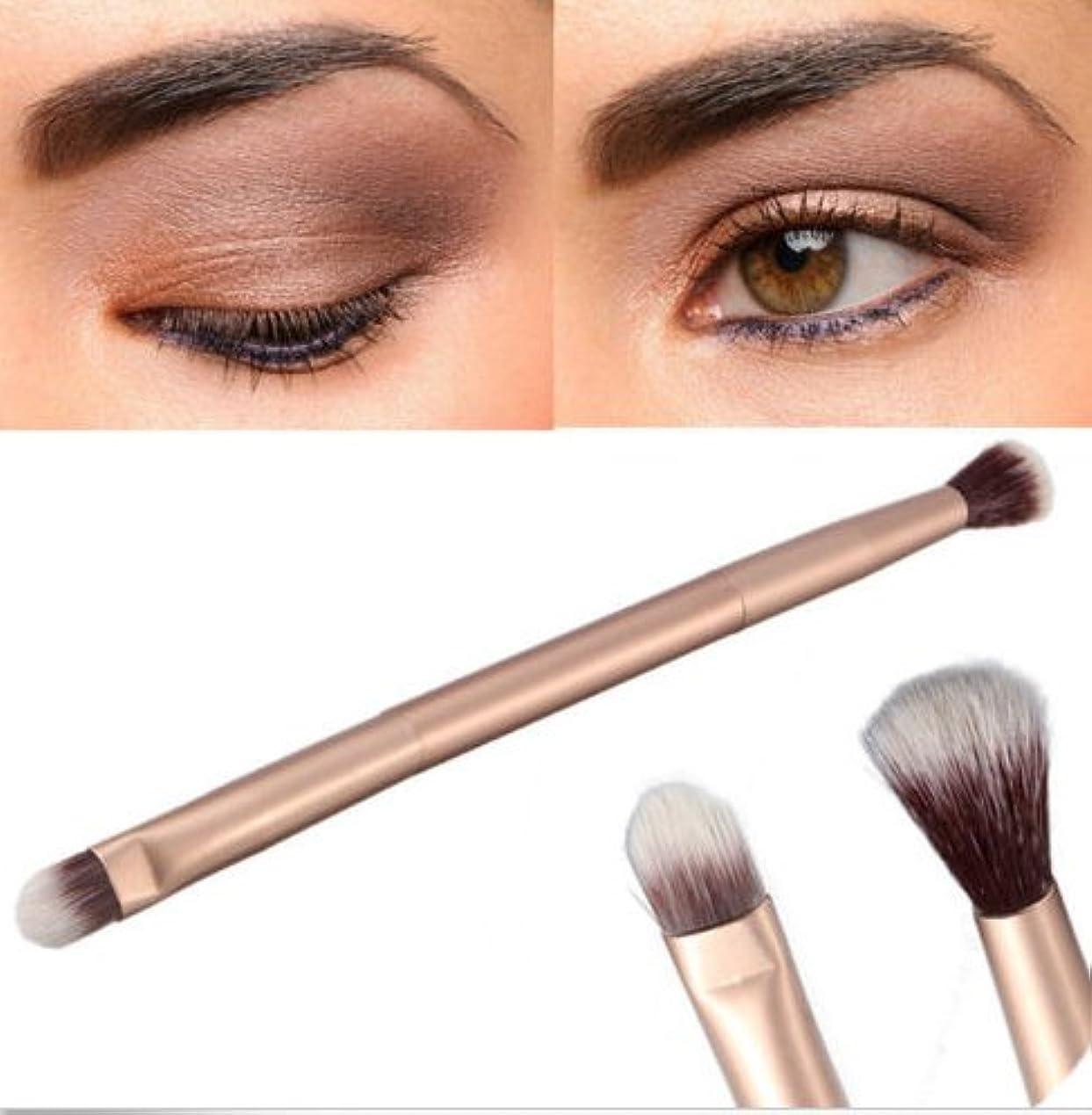 相手アジア人外出2 in 1 One Makeup Eye Powder Foundation Eyeshadow Blending Double-Ended Brush Pen 2in1ワンメイクアップアイパウダーファンデーションアイシャドウブレンディングダブルエンドブラシペン