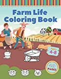 Farm Life Coloring Book: For Kids Featuring Farm Scenes Animals Farm Machinery And Countryside