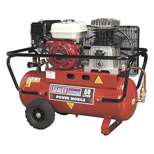 SEALEY sa5055 Kompressor Belt Drive-Benzinmotor, 5,5 PS, 50 Liter