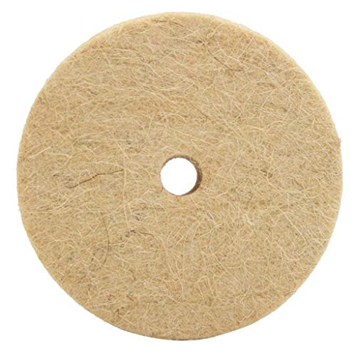 KunmniZ Polishing Buffing Drill Grinding Wheel Wool Felt Polisher Disc Pad Hole Metal