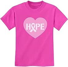 Hope Breast Cancer Awareness Heart Shaped Ribbon Youth Kids T-Shirt