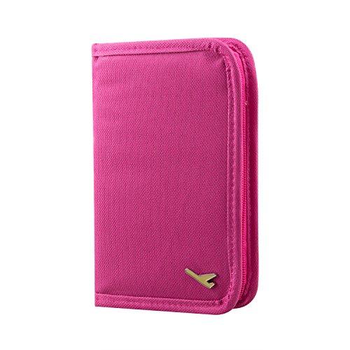 TRIXES Portafoglio, portadocumenti, organiser da viaggio rosa