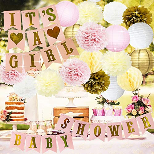 Baby Shower Decoraciones BABY SHOWER & IT'S CHICA Garland Bunting Banner Papel...