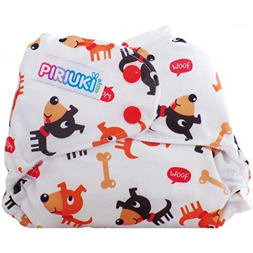 Piriuki - Pannolino in tessuto ripiegabile Easy all In, universale, fantasia cagnolini, multicolore