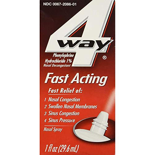 4 Way Fast Acting Nasal Spray - 1 oz, Pack of 6