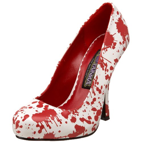 Funtasma BLOODY-12 Damen Pumps, Wei, 41 EU