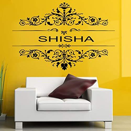 yuandp Verwijderbare vinyl stickers Muurtattoo Wall Decor Poster Art Shisha Waterpijp House Cafe Rook Shop Outdoor Teken 42 * 64 cm