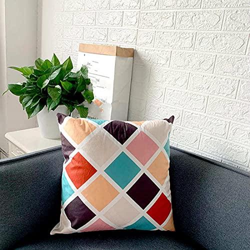 KLily Funda De Almohada Decorativa con Patrón Geométrico, Funda De Cojín para El Respaldo del Sofá del Hogar, Almohada para La Cintura del Dormitorio, Cojín para El Almuerzo, Lavable
