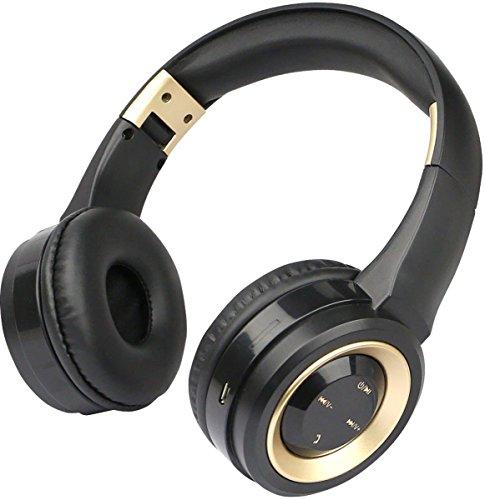 Fontastic Bluetooth On-Ear Kopfhörer Boom Schwarz/Gold