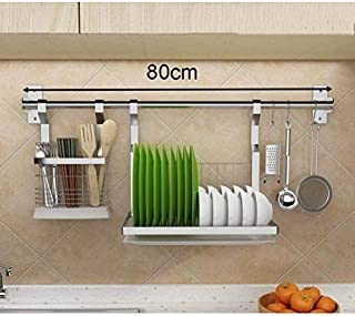 KOSGK Drainer Rack Wall Mounted Dish Rack Stainless Steel Dish Drying Rack with Extendable Drip Tray Extra Draining Board