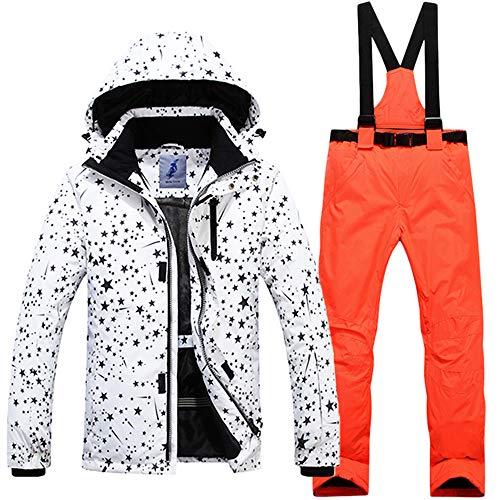 HXSKI Heren Ski Suit, Waterdichte Ski Jassen Broek Set Warm Winter Sneeuw Jas Winddichte Snowboard Jakets Kleurrijke Bedrukte Sneeuwpak Set