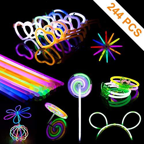 Braccialetti Luminosi Fluorescenti Starlight Disco per Feste , Una Varietà di Colori Diversi,Kit per Bracciale, Occhiali, Fascia per Capelli, Mulino a Vento, Giroscopio, Farfalla, Palla, Fiore