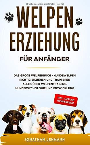 WELPENERZIEHUNG FÜR ANFÄNGER: Das große Welpenbuch - Hundewelpen richtig erziehen und trainieren Alles über Welpentraining, Hundepsychologie und Entwicklung + inkl. lustige Hundespiele