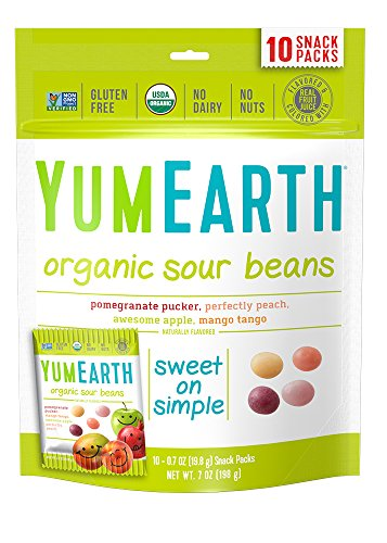 YumEarth Organic Sour Beans  10 snack packs