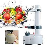 OUKANING électrique Epluche,Acier Pomme de Terre Fruit éplucheur légumes Peau Outil Machine à éplucher l'orange de Pommes de Terre, Outil Rotatif de Cuisine Multifonction