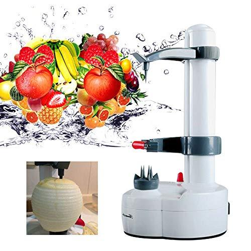 SHZICMY Pelador eléctrico de acero inoxidable con rotación automática para verduras, patatas, frutas, etc.