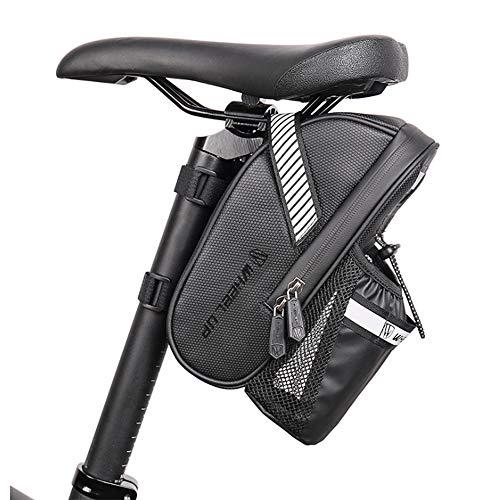 Bolsa de Sillín de Bicicleta Impermeable, con Tiras Reflectantes, Bolsa de Bicicleta de Montaña con Bolsa de Botella de Agua, para Bicicletas de Montaña, Bicicletas de Carretera