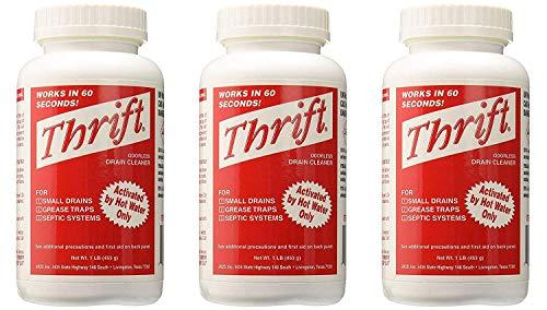 Thrift T-100 Alkaline Based 1-Pound Granular Drain Cleaner (3-Pack)