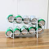 WSTERAO Estante para latas apilable Organizador de Cocina Estante para Cajas de Bebidas Estante de Cola de Hierro Forjado Creativo para latas de Almacenamiento y Especias, Transparente
