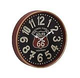 Deco 79 52581 Reloj de Pared, Black/Mahogany Brown/White/Red