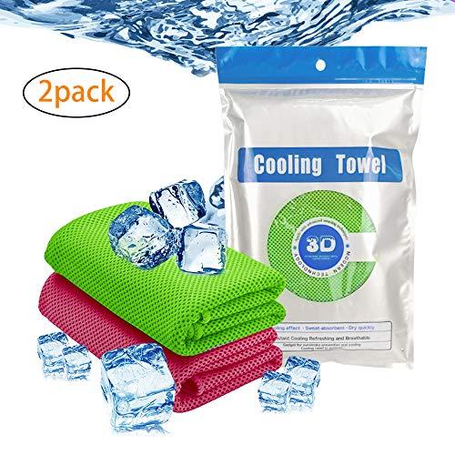 SUNTATOP Cooling Handtuch, Eiskalt Verwendung als Kühlender Hals Stirnband Bandana Schal Bleiben Sie cool für Reisen Camping Golf Fußball & Outdoor Sports