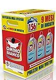 Omino Bianco – Detersivo Lavatrice Liquido, Essenza di Muschio Bianco, 156 Lavaggi, 2600 ml x 3 Confezioni