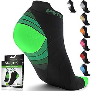 Physix Gear Sport Calcetines Running Hombres y Mujeres, los Mejores Calcetines de compresión, Calcetines Tobilleros para la Fascitis Plantar Hombre y Mujer, Calcetines Deportivos Hombre y Mujer
