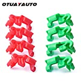 OTUAYAUTO 8PCS Tailgate Handle Clip, Lock Rod Clip Replacement for Chevy Silverado 99-09, GMC Sierra 99-09, Left and Right Side Replace OEM: 88981030, 88981031