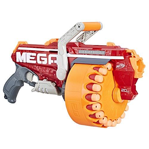 Hasbro Nerf- Mega Megalodon Blaster con 20 Dardi Originali, Multicolore, E4217EU4
