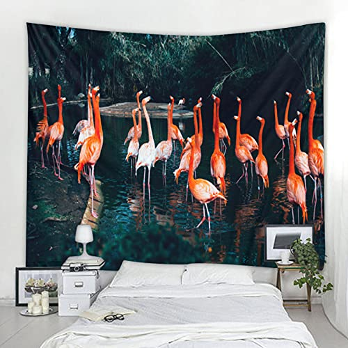 biejuyige Tapiz De Montaje En Pared Flamingo Mandala 3D Paño De Pared Hippie Mandala Decoración para El Hogar Colgante De Pared Manta De Pared A12 150X200Cm