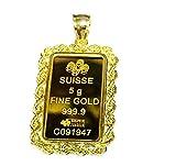 24k Fine Gold Suisse 5 gram Bullion Ingot...