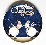SD&EY Placa de cerámica de Navidad Dibujos Animados Pintado a Mano Placa de Cena de Fruta Plato de Fruta China Placa de Cena Occidental del año Nuevo Regalo,C