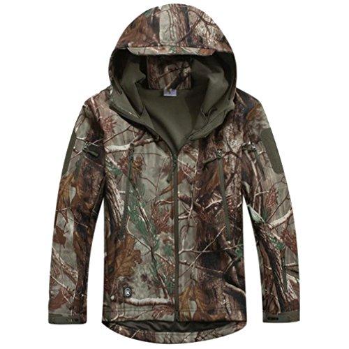 Reebow Gear Taktische Jacke mit Reißverschluss, aus Fleece, Herren, JKV4, Leaf Camouflage, Large