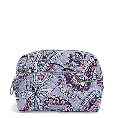 Vera Bradley Women's Signature Cotton Large Cosmetic Makeup Bag, Makani Paisley, One Size