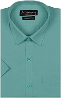 7513ec95 ACCOX Half Sleeves Formal Regular Fit Cotton Plain Solid Shirt for Men  (Pack of 1
