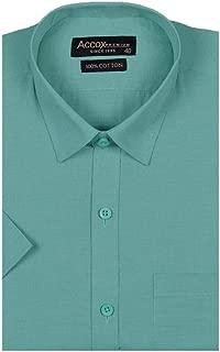 ACCOX Half Sleeves Formal Regular Fit Cotton Plain Solid Shirt for Men (Pack of 1 Shirt)
