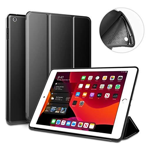 aoub Cover Kompatibel für iPad 9.7 2018/2017 Hülle, Smart Hülle Schlanke, Weiche TPU-Schutzhülle für die hintere Abdeckung mit Auto Wake/Sleep Fit iPad 9,7 Zoll iPad 5./6. Generation Hülle,schwarz