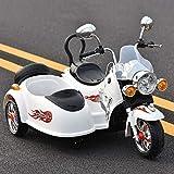 TOYYPAY Motocicleta eléctrica niño en tándem de la Motocicleta 3 Ruedas de la...